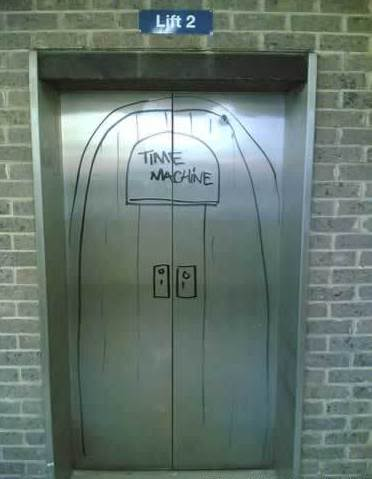 Time Machine Elevator Graffiti