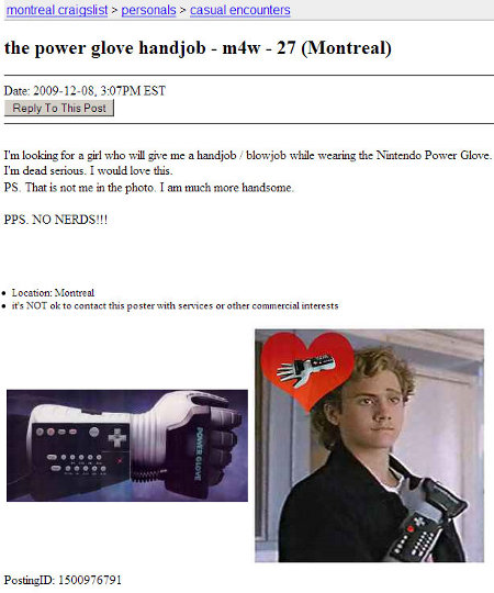 Craiglist Power Glove No Nerds