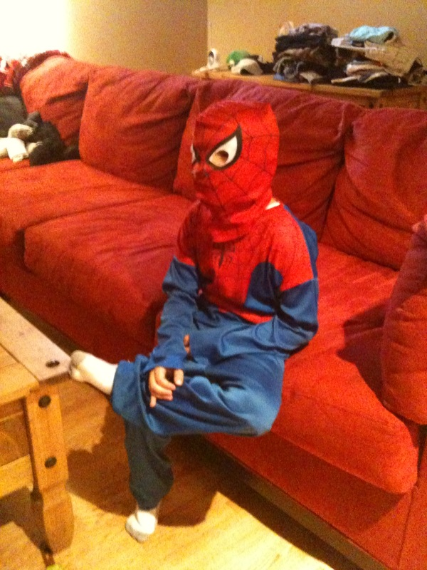 How My Spiderman Son Watches Cartoons