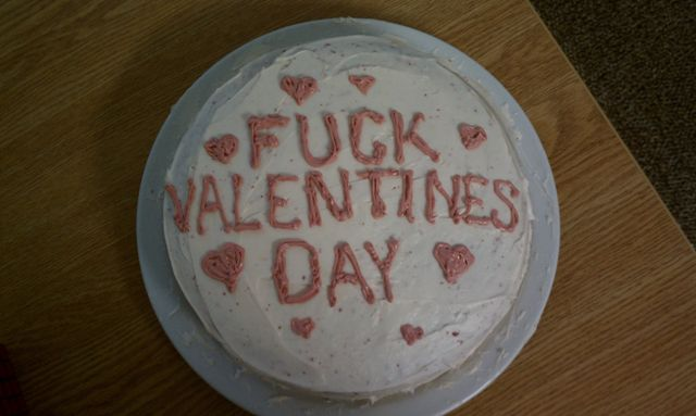Forever Alone Valentines Day Cake