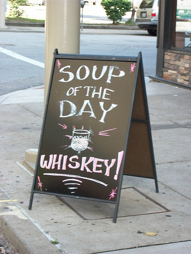 meanwhile in ireland soup of the day